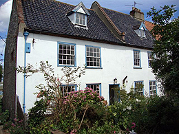 Jolly Sailor Cottage in Wells-next-the -sea. We are right on the edge of the shore  and the house has stunning sea views